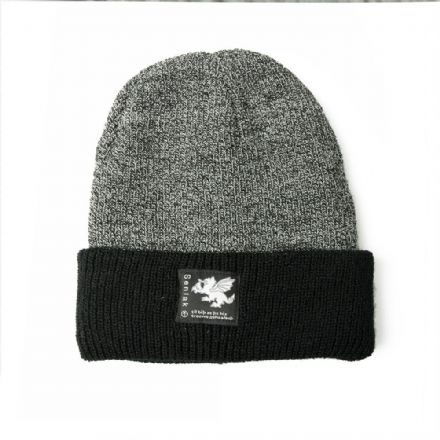 Senlak Heritage Beanie - Antique Grey and Black